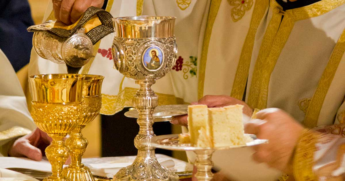 Chalices On Altar Table